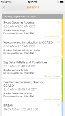 Event Agenda appeared on the Event App by Bonfyre.