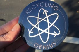recycling genius close up