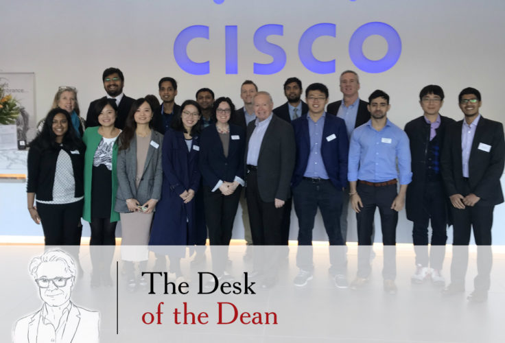 Olin MBA students visit Cisco in Silicon Valley in October 2019, thanks to the help of alumni in the company and relationships forged through the Weston Career Center.